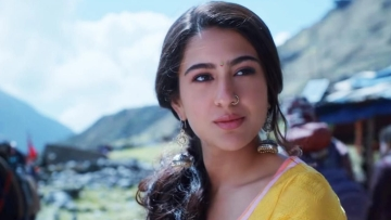 Sara Ali Khan in a scene from <i>Kedarnath</i>.