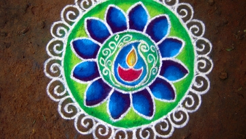 Arif, My Diwali Rangoli is Dedicated to You—May Your Taalluq Stay