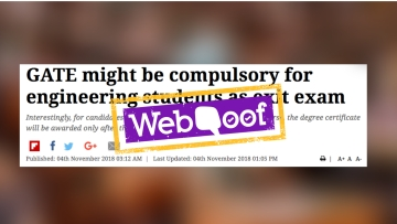 The MHRD and the AICTE have rubbished reports of the GATE Exam being made a mandatory exit test.