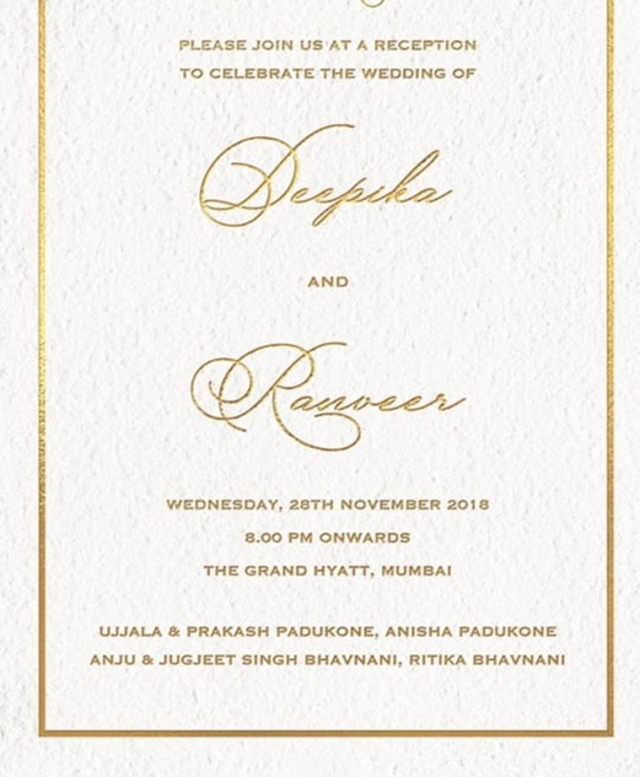 The reception invite.