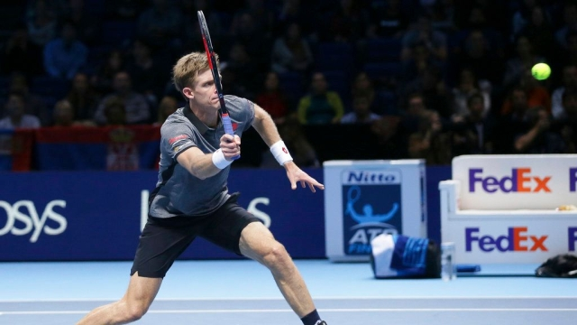 Kevin Anderson could only land 48 percent of first serves in the first set.