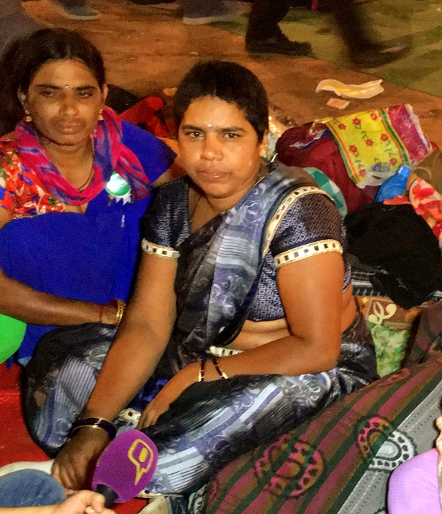 Saroja has the responsibility of her 12-year-old son and mother-in-law.
