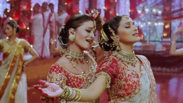 An Aishwarya Rai and Madhuri Dixit dance face-off from the 2002 box-office hit Devdas has been voted the greatest Bollywood dance number of all time in a new UK poll.