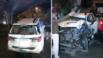 The driver of the Fortuner  rammed it into several other vehicles. It hit a cycle, a scooter, a motorcycle, a rickshaw and then a mini-bus before it came to a halt, they added.