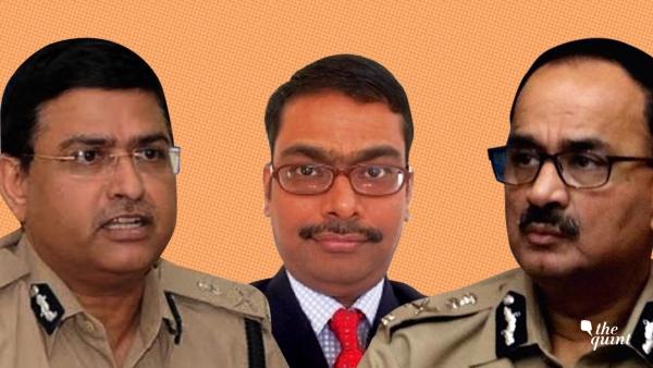 Special Director CBI Rakesh Asthana (L), MK Sinha, DIG, CBI (C) and Director CBI Alok Verma (R).