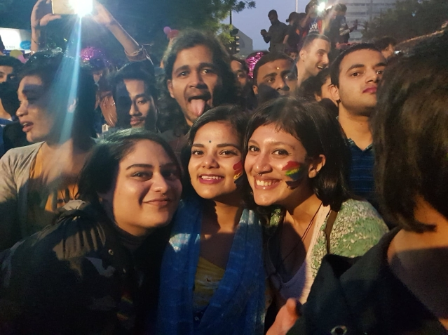 Near the stage at Delhi Pride 2018 after the march.
