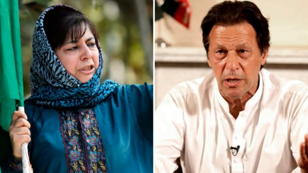 PDP President Mehbooba Mufti and Pakistan Prime Minister Imran Khan.