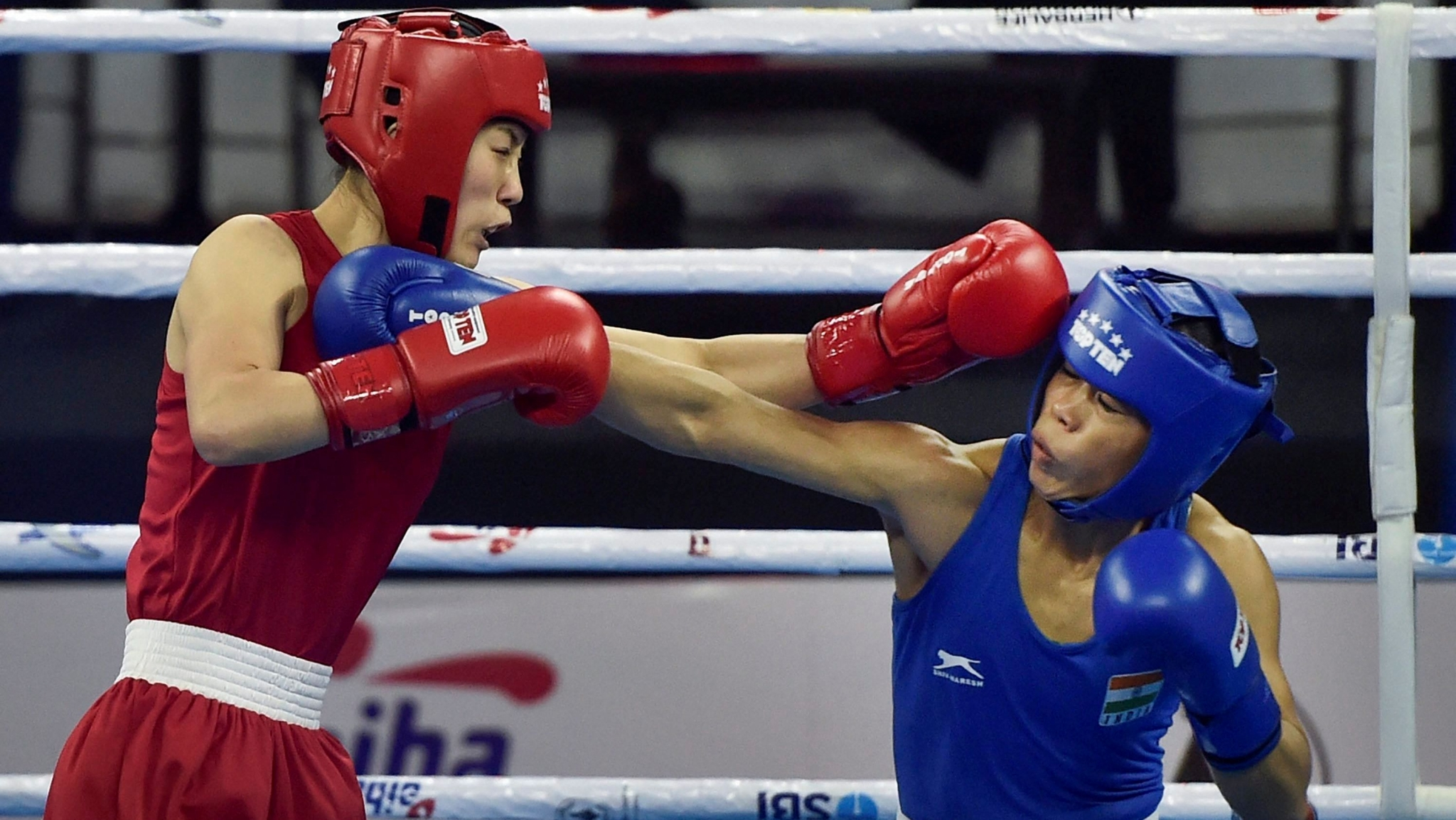 In the final Mary Kom will face Ukraine's Hanna Okhota whom the Indian had beaten in a tournament in Poland this year