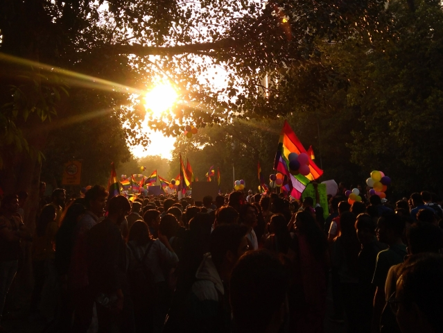 Members and supporters of the LGBTQI groups during Delhis Queer Pride march, in New Delhi, Sunday, 25 November.