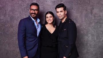 Ajay Devgn and Kajol shoot for <i>Koffee with Karan</i> with KJo.