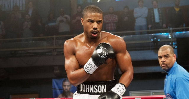 Adonis Creed is ready to take down his opponent in the ring.