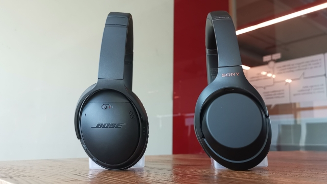 Both Sony and Bose offer NFC connectivity with their headphones.