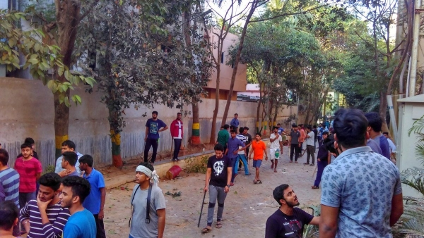 Violent clashes broke out between the Law School and Engineering department of Kalinga Institute of Industrial Technology (KIIT), Bhubaneshwar on 24 November after simmering tensions over lewd comments passed to a female student the previous day.