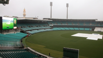 Day 1 of India's four-day warm-up game against Cricket Australia XI was washed out due to torrential showers in Sydney.