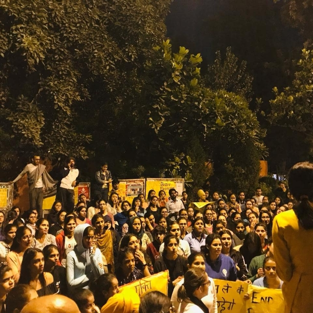 The students have been protesting since 29 October.
