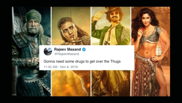 Netizens and critics express disappointment over Aamir Khan's 'Thugs of Hindostan'.
