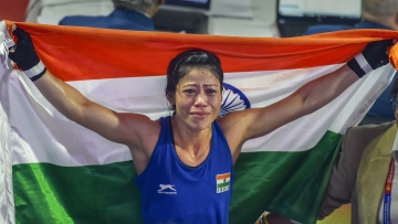 MC Mary Kom became the first female boxer to win six World Championship gold medals with her title win last week in Delhi.