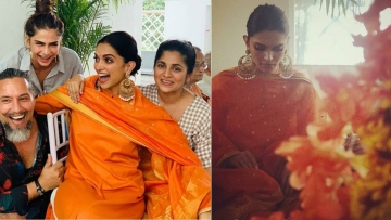 The Ranveer - Deepika wedding celebrations begin at the Padukone household.
