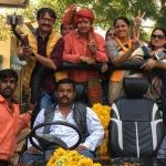 <b>The Quint</b>'s Neeraj Gupta with Akash Vijayvargiya.