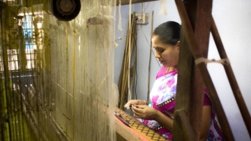 Many young people are moving away from their traditional occupation of weaving cotton sarees on handlooms.