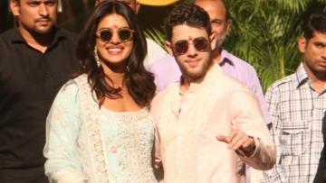 Priyanka Chopra and Nick Jonas kicked off wedding festivities with a puja in Mumbai.