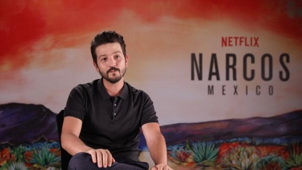 Diego Luna plays the Mexican drug lord Felix Gallardo in <i>Narcos: Mexico.</i>