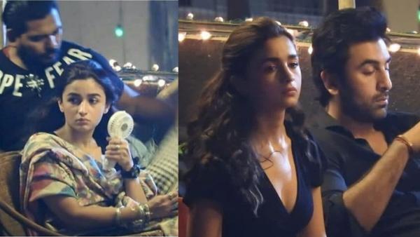 Ranbir Kapoor and Alia Bhatt on the sets of <i>Brahmastra.</i>