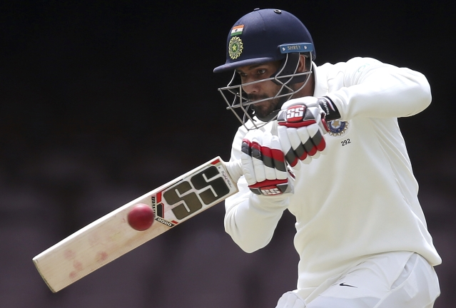 Hanuma Vihari in action on Day 2 of India's warm-up game against Cricket Australia XI at Sydney.