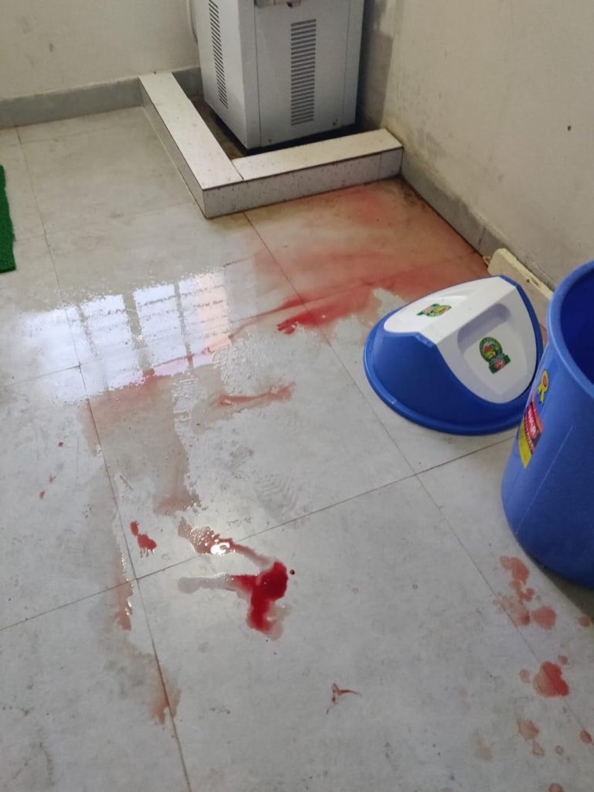 Scenes of a blood bath at KIIT School of Law.
