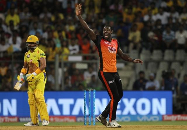 West Indies' T20 captain Carlos Brathwaite was released by Sunrisers Hyderabad just a season after they bagged him in the auction for Rs 2 crore.
