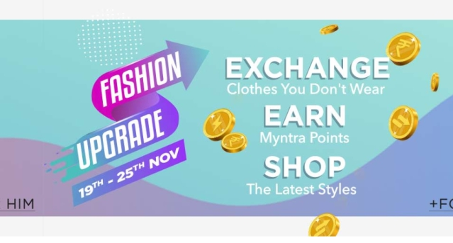 Myntra lets you exchange old clothes for new.