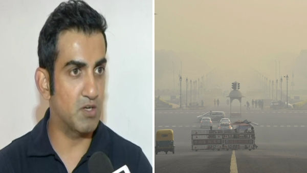 Gautam Gambhir speaks to the media about the air quality in New Delhi.