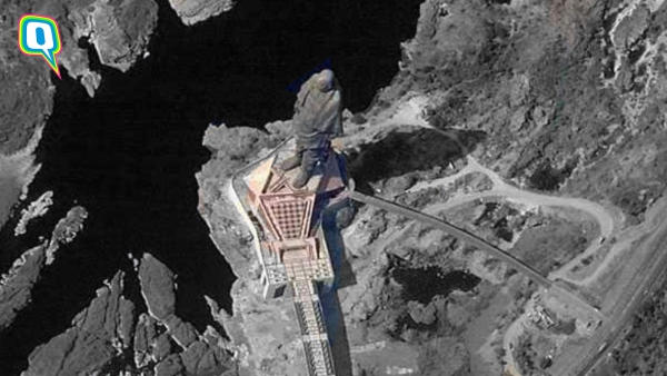 Upar Wala Sab Dekh Raha Hai: Statue of Unity as Seen From Space
