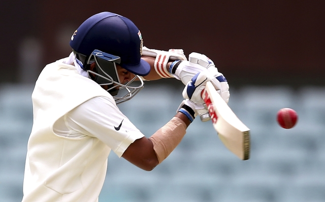 Prithvi Shaw in action on Day 2 of India's warm-up game against Cricket Australia XI at Sydney.