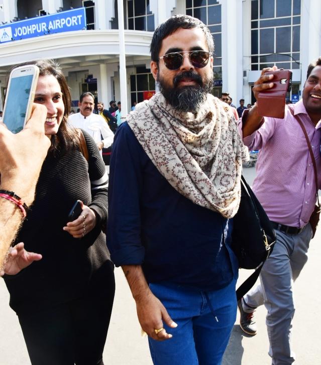 Sabyasachi Mukherjee reaches Jodhpur.