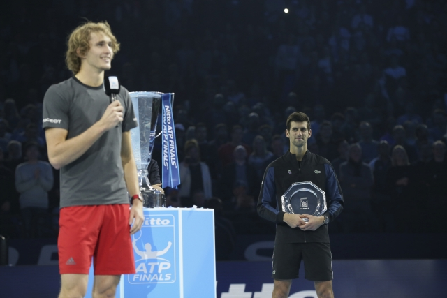 Made to wait: Djokovic was unable to level Roger Federer's record of six ATP Finals titles