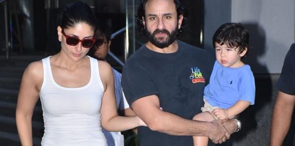 Kareena Kapoor, Saif Ali Khan and Taimur spotted in Bandra.