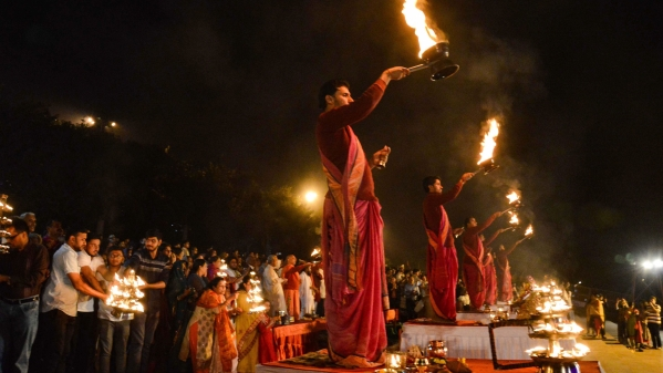 Eve of Chhath at Narmada Ghat, Jabalpur.