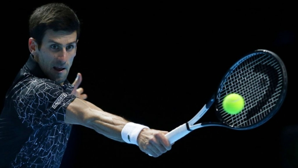 World number one Djokovic comfortably saw off fourth seed Kevin Anderson 6-2, 6-2.