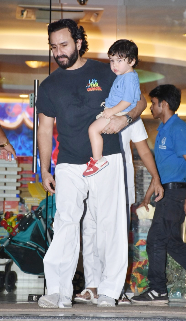 Saif Ali Khan with Taimur.