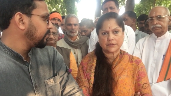 Yashodhara Raje Scindia, Minister of Commerce in MP government.