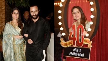 Saif and Kareena at the opening of the Prithvi Theatre Festival 2018.