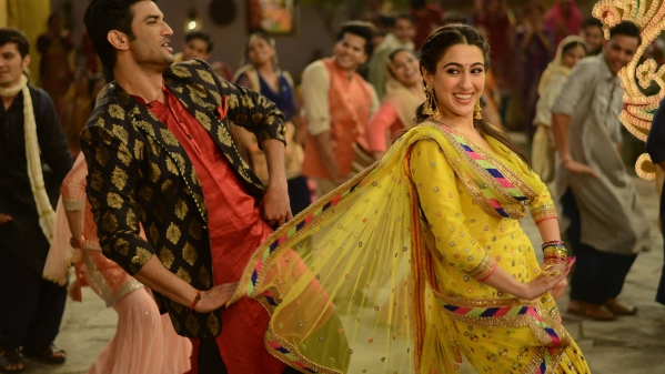 Sushant Singh Rajput & Sara Ali Khan brighten up the screen with their chemistry.