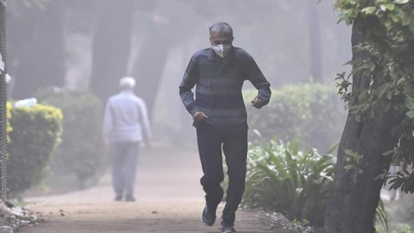 The overall PM 2.5 count at Rabindra Bharati University was at 381 (very poor) in Kolkata.