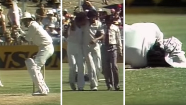 During India's tour of Australia in 1980-81, Len Pascoe's bouncer hit Sandeep Patil on the head and he had to be assisted off the field.