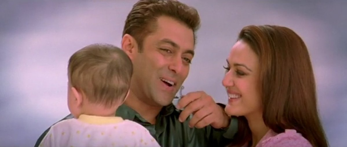 Salman Khan with Preity Zinta in a still from the film.