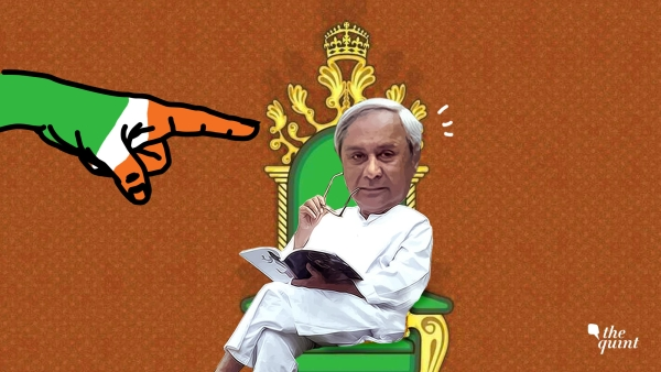 Image of Odisha CM Naveen Patnaik and a hand in the Congress's colours, used for representational purposes.