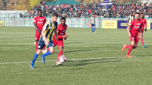 On Tuesday, 6 November, for the first time in history, Real Kashmir locked horns with one of the leading football clubs in the country.