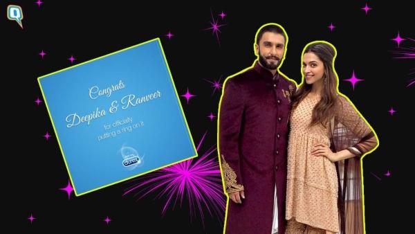 Durex wishes Ranveer Singh and Deepika Padukone