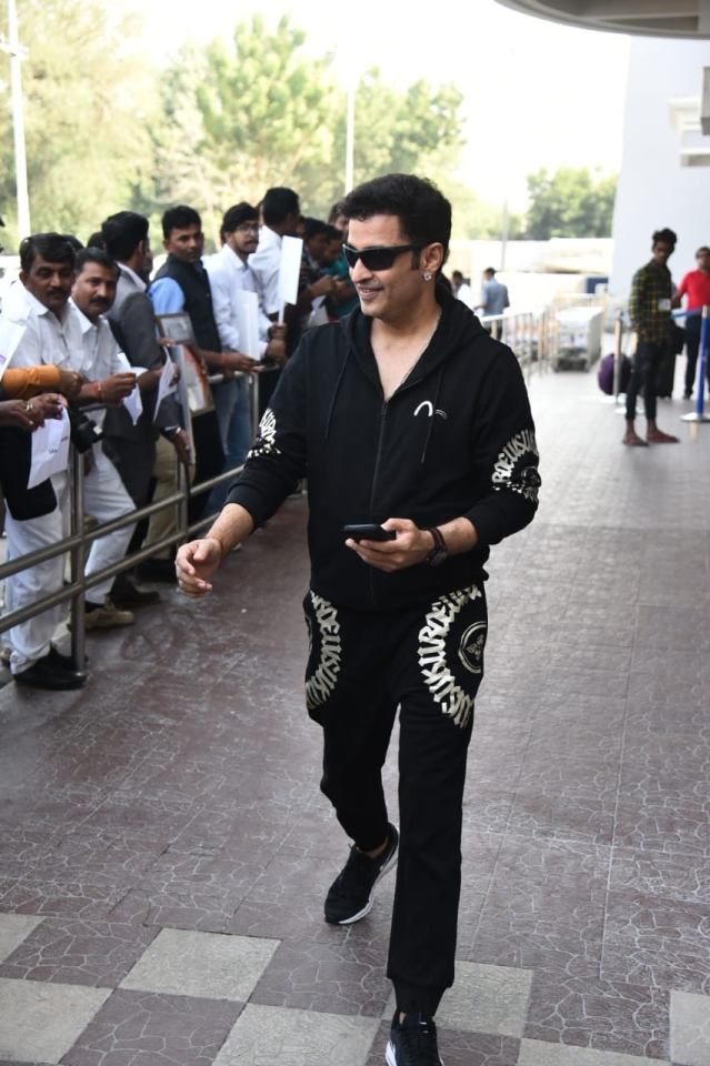 Choreographer Ganesh Hegde was spotted arriving at Jodhpur airport.